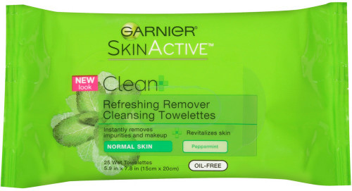 Garnier SkinActive Refreshing Remover Cleansing Towelettes, Normal Skin, 25 ct