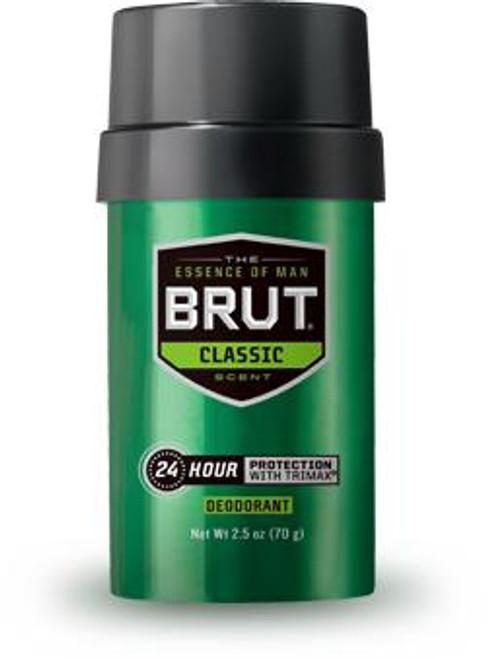 Brut Classic 24-Hr Protection Deodorant Round Stick, 2.5 oz, 1 Ea