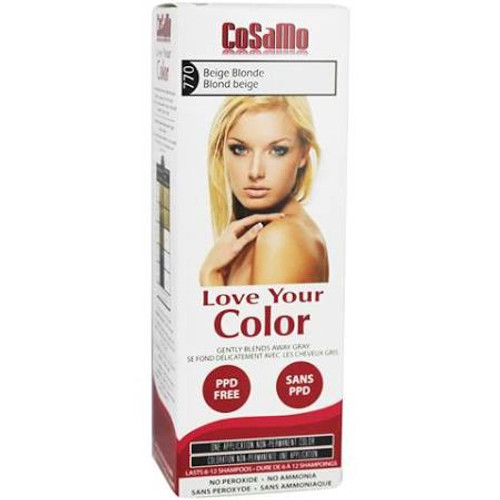 Cosamo Love Your Color Hair Color, #770 Beige Blond (Comparable To Loving Care)