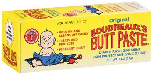 Boudreaux's Butt Paste Original Zinc Oxide Diaper Rash Ointment, 2 oz, 1 Ea