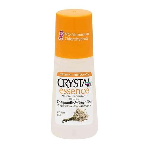 Crystal Essence Mineral Deodorant Roll-On, Chamomile & Green Tea, 2.25 oz, 1 Ea
