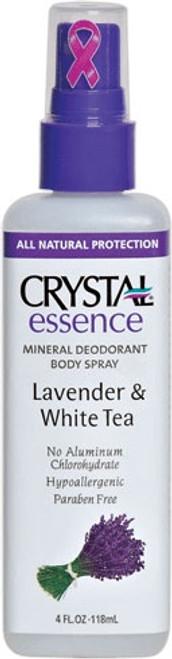 Crystal Essence Mineral Deodorant Spray, Lavender & White Tea, 4 oz, 1 Ea