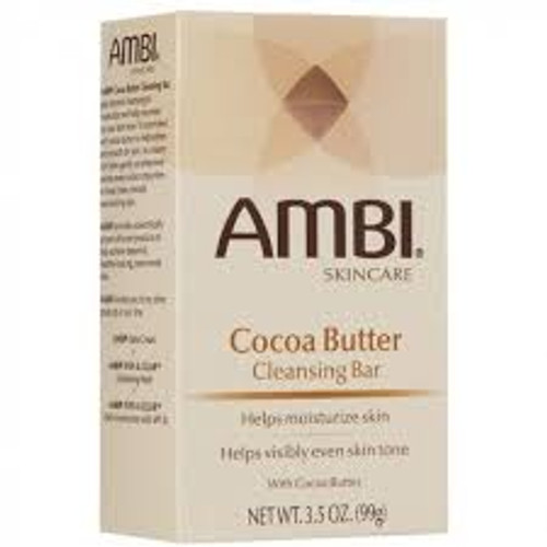 Ambi Skincare Cocoa Butter Cleansing soap Bar, 3.5 oz