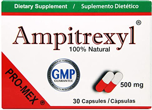 Ampitrexyl Natural Antibiotics for Adults Only,  500mg Capsules, 30 ct