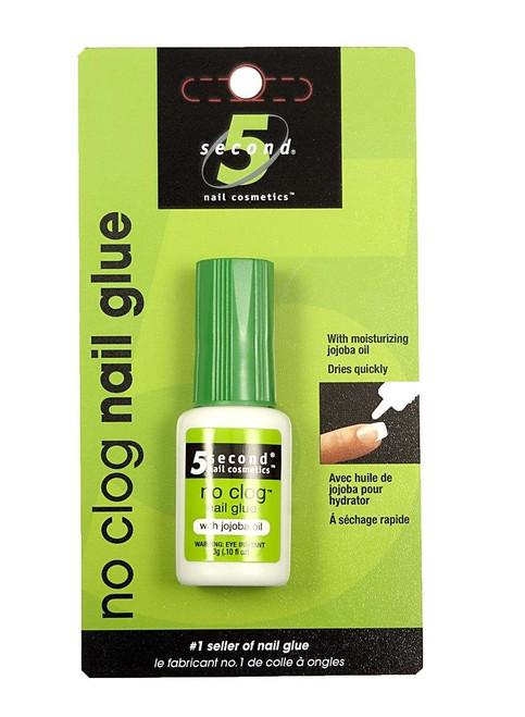 5 Second No Clog Nail Glue, 0.12 oz (3 g), 1 Ea