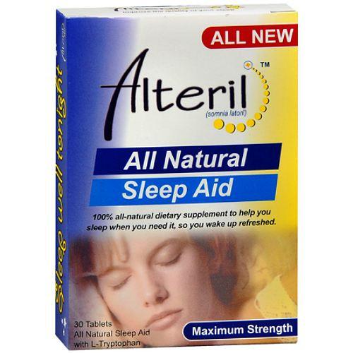 Alteril All Natural Sleep Aid Tabs, Maximum Strength, 30 ct