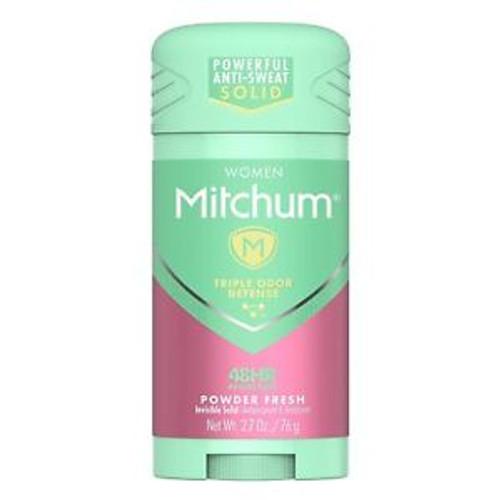 Mitchum Women Invisible Solid Anti-Perspirant & Deodorant Stick, Powder Fresh, 2.25 oz