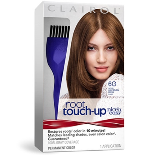 Clairol Nice 'N Easy Root Touch Up Hair Color Kit, #6G Light Golden Brown, 1 Ea