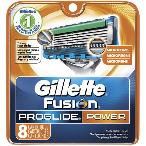Gillette Fusion Proglide Power Razor Refill Cartridges, 8 ct