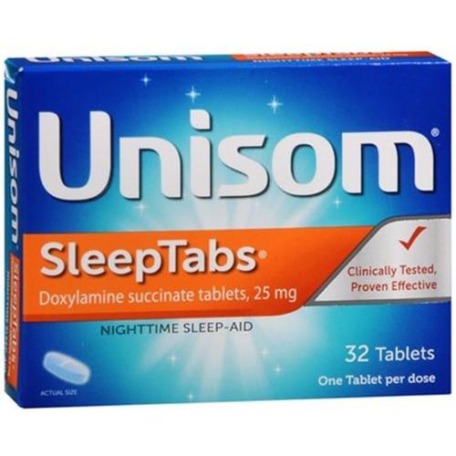 Unisom Sleep-Tabs Nighttime Sleep-Aids Tablets, 32 ct