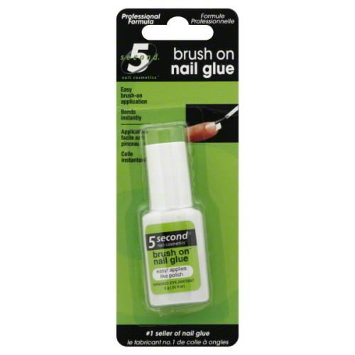 5 Second Brush On Nail Glue, 0.2 oz (6 g), 1 Ea