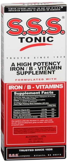SSS Tonic High Potency Iron / B-Vitamin Supplement, 10 oz, 1 Ea