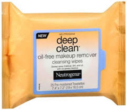 Neutrogena Deep Clean, Oil-Free Makeup Remover Cleansing Wipes, 25 Ct