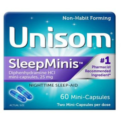 Unisom Sleep-Minis Nighttime Sleep-Aids Mini Capsules, 60 ct