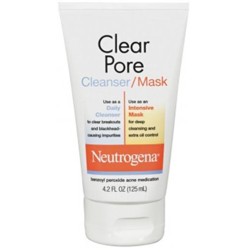 Neutrogena Clear Pore Acne-Fighting Cleanser-Mask, 4.2 oz
