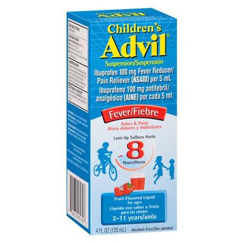 Children's Advil Fever, Pain Reliever + Fever Reducer Liquid, Fruit, 4 oz