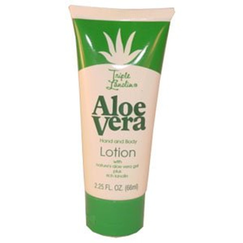 Triple Lanolin Hand & Body Lotion, Aloe Vera, 2.25 oz