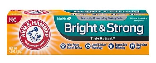 Arm & Hammer Truly Radiant Bright & Strong Fluoride Anti-Cavity Toothpaste, Crisp Mint, 4.3 oz