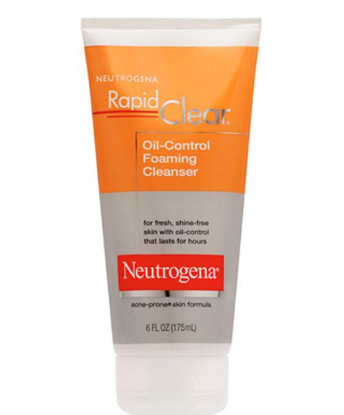Neutrogena Rapid Clear Oil Control Foaming Cleanser, 6 Oz