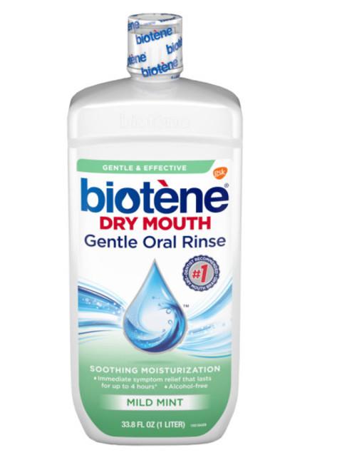 Biotene Dry Mouth Gentle Oral Rinse Mouthwash, Mild Mint, 16 oz, 1 Ea