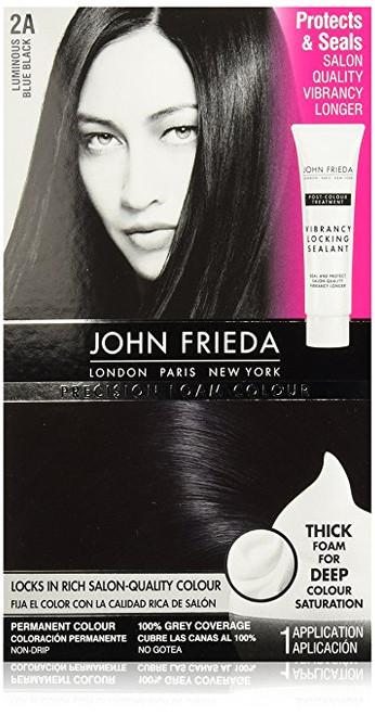 John Frieda Precision Foam Permanent Colour Kit, 2A Blue Black
