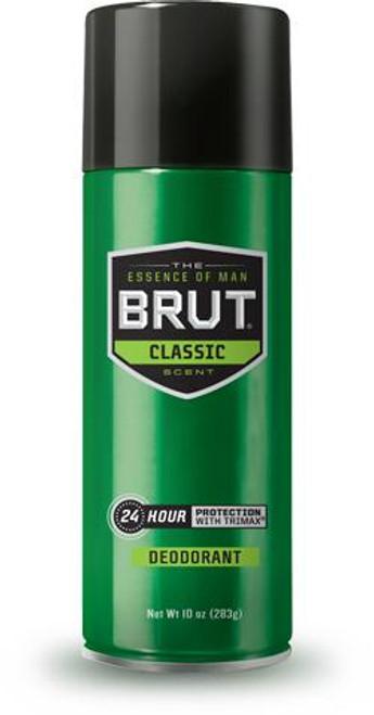 Brut Classic 24-Hr Protection Deodorant Spray, 10 oz