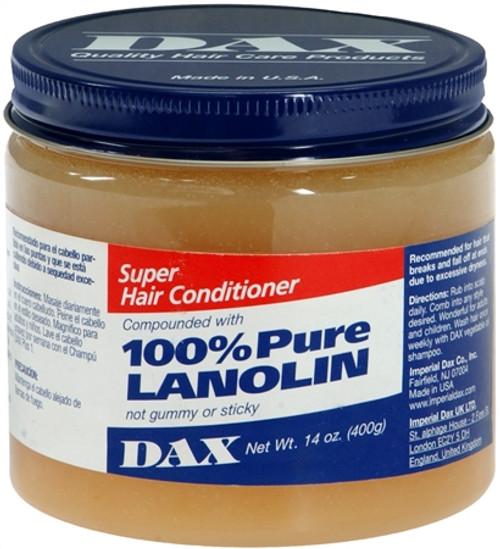 Dax 100% Pure Lanolin Super Hair Conditioner, 14 oz, 1 Ea