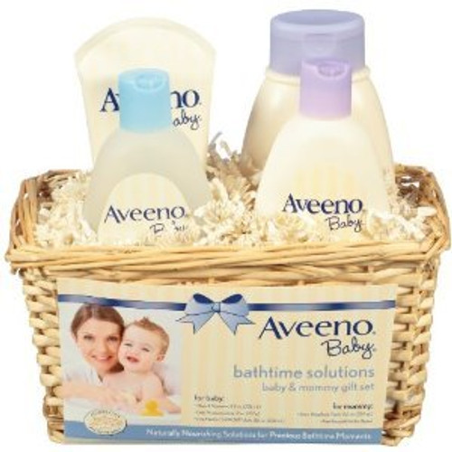 Aveeno Baby Daily Bathtime Solutions 4-Piece Gift Set