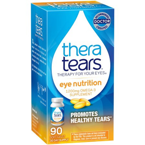 TheraTears Nutrition, 1200mg Omega-3 for Eye Support Supplement Softgels, 90 ct