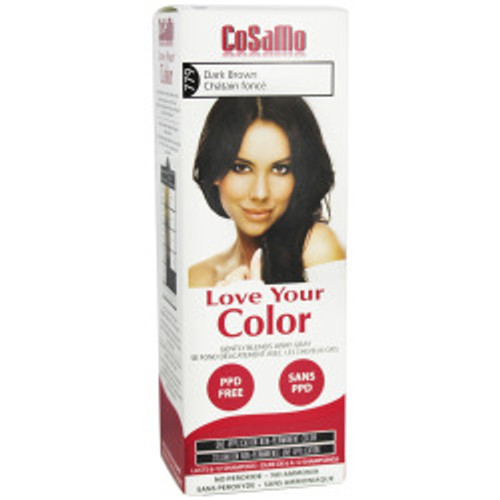 Cosamo Love Your Color Hair Color,  #779 Dark Brown (Comparable To Loving Care), 1 Ea