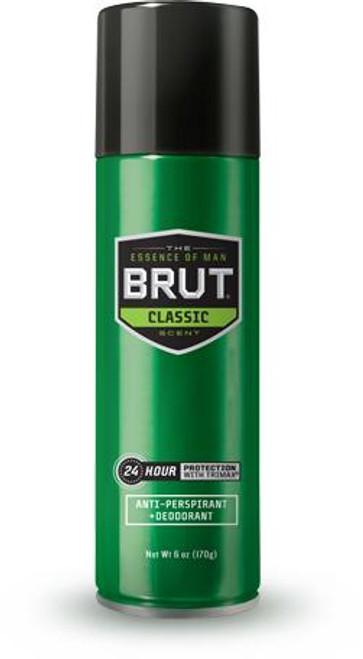 Brut Classic 24-Hr Protection Anti-Perspirant & Dedorant Spray, 6 oz, 1 Ea