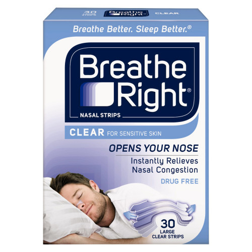 Breathe Right Clear Nasal Strips, Large, 30 ct, 1 Ea