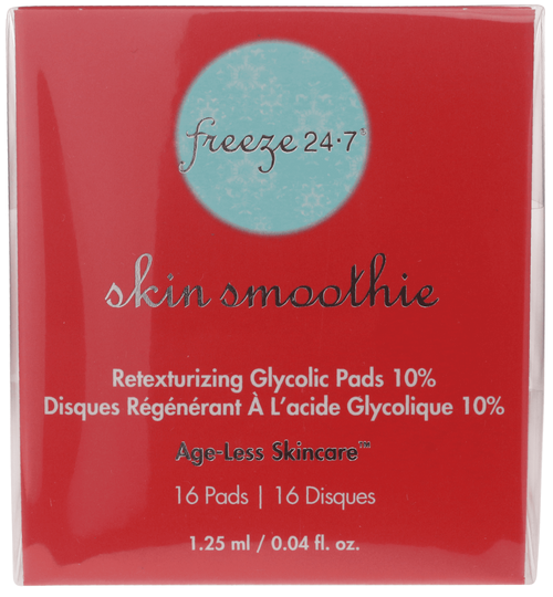 Freeze 24/7 Skin Smoothie Retexturing 10% Glycolic Pads, 16 ct