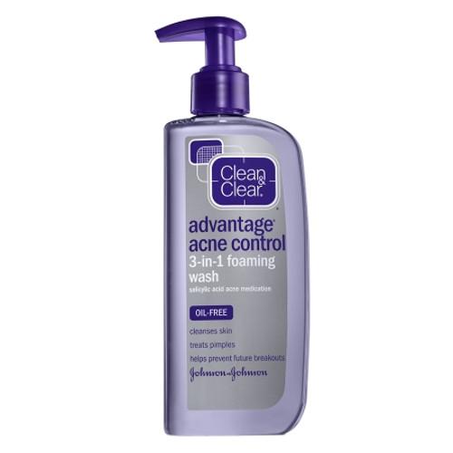 Clean & Clear Advantage Acne Control 3-in-1 Foaming Wash, 8 oz