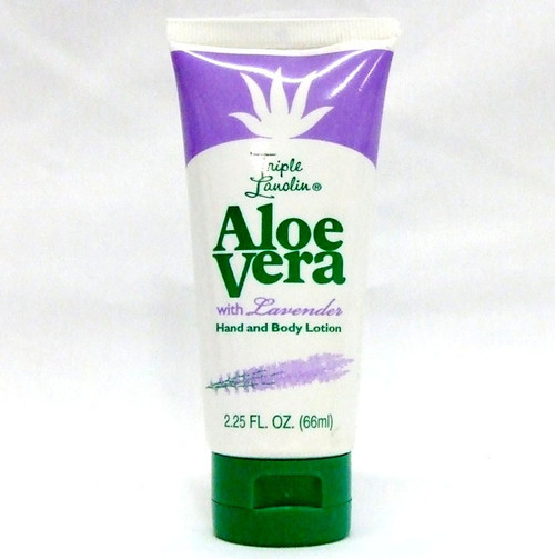 Triple Lanolin Hand & Body Lotion, Aloe Vera & Lavender, 2.25oz, 1 Ea