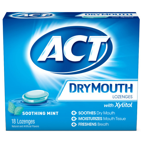 ACT Dry Mouth Lozenges, Mint, 18 ct, 1 Ea