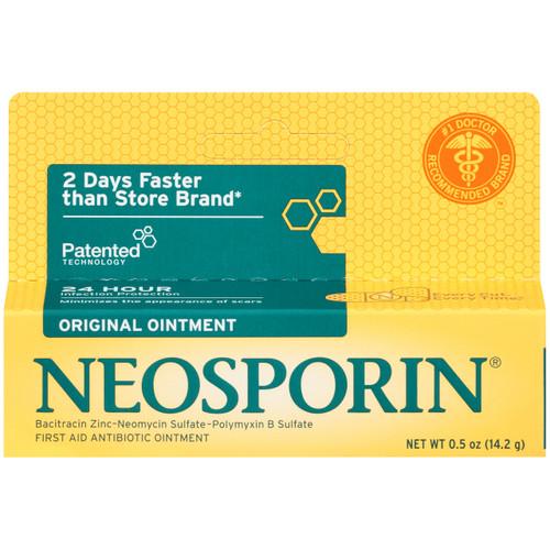 Neosporin Original First Aid Antibiotic Ointment, 0.5 oz, 1 Ea