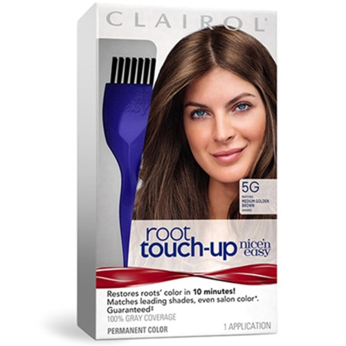 Clairol Nice 'N Easy Root Touch Up Hair Color Kit, #5G Medium Golden Brown, 1 Ea