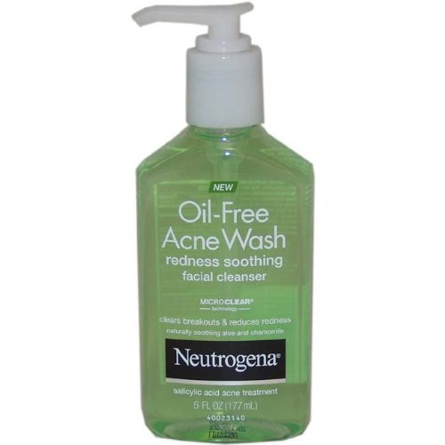 Neutrogena Oil-Free Acne Wash Redness Soothing Facial Cleanser, 6 oz