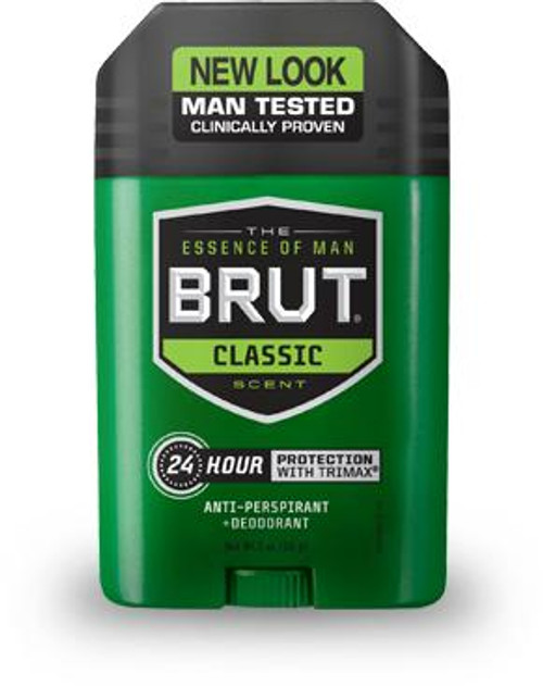 Brut Classic 24-Hr Protection Anti-Perspirant & Dedorant Stick, 2 oz, 1 Ea