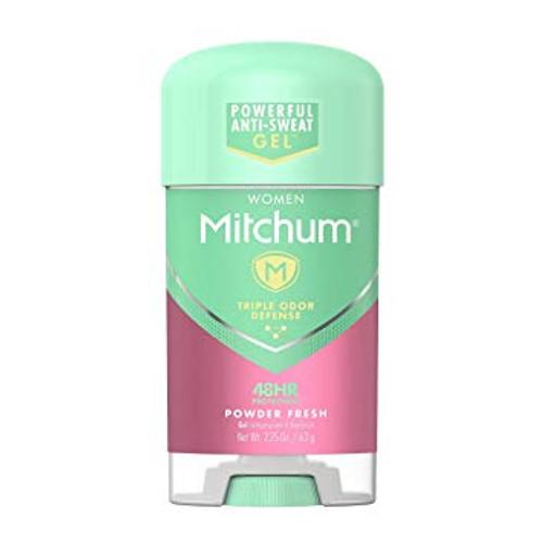 Mitchum Women Anti-Perspirant & Deodorant Gel Stick, Powder Fresh, 2.25 oz