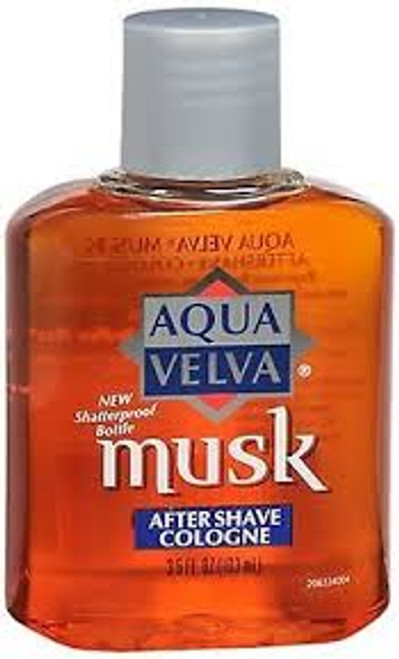 Aqua Velva After Shave Musk Cologne, 3.5 oz