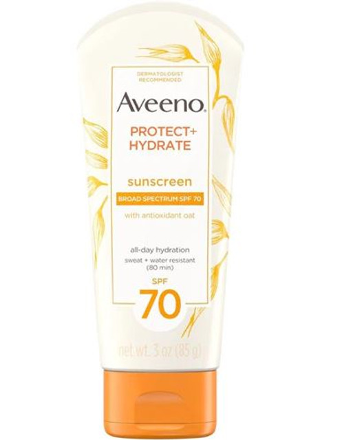 Aveeno  Protect + Hydrate Lotion Sunscreen with SPF-70, 3 oz