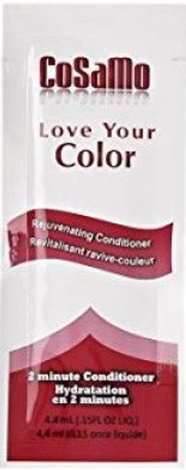 Cosamo Love Your Color Rejuvenating 2-Minute Conditioner Packets, .15 oz