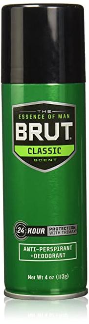 Brut Classic 24-Hr Protection Anti-Perspirant & Dedorant Spray, 4 oz