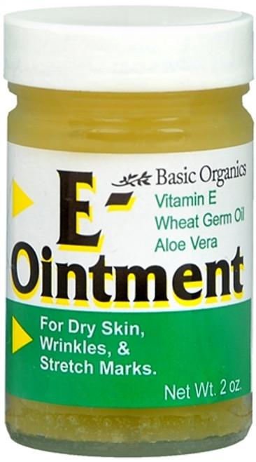 Basic Organics Vitamin E Ointment, 2 oz