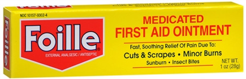 Foille Medicated First Aid Ointment, 1 oz, 1 Ea