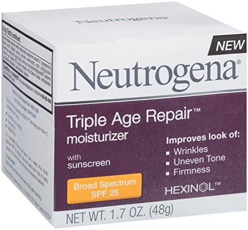 Neutrogena Triple Age Repair Moisturizer Broad Spectrum SPF-25, 1.7 oz