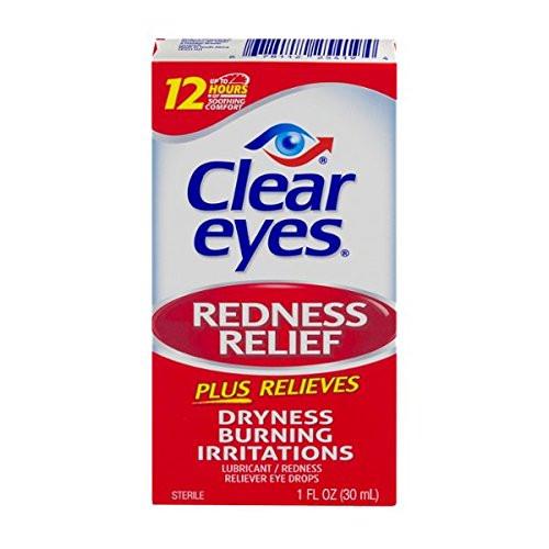 Clear Eyes Redness Relief Plus Eye Drops, 1 oz, 1 Ea