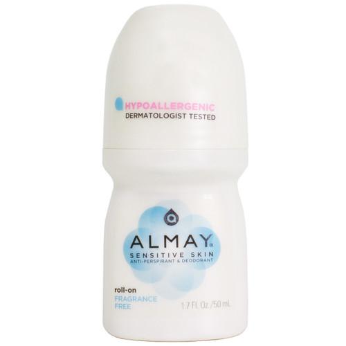 Almay Anti-Perspirant & Deodorant Fragrance Free Roll-On, 1.7 oz